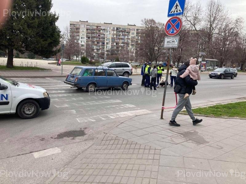 Лада блъсна момиче на пешеходна пътека в Пловдив