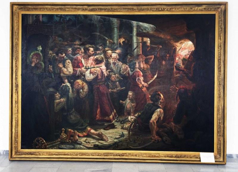 """Изложба показва оригинални скици към картината """"Защитата на Перущица"""""""