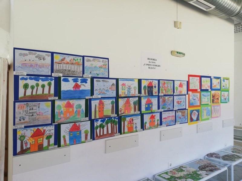 Дечица от градините в Перущица участват с рисунки в изложба