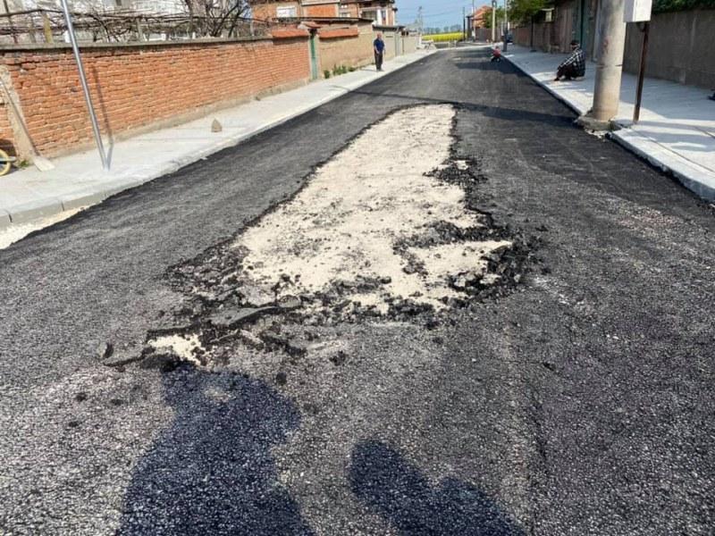 Кметът на Раковски реагира остро заради некачествен асфалт