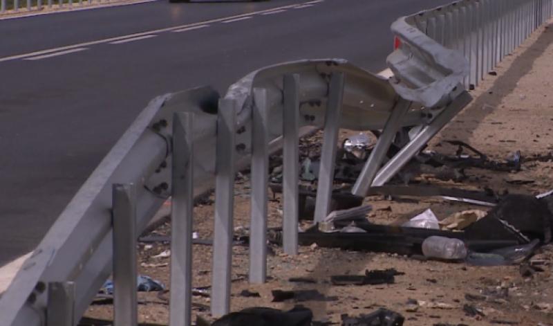 След тежката катастрофа: Инспектират ремонтирания пътен участък край Марково