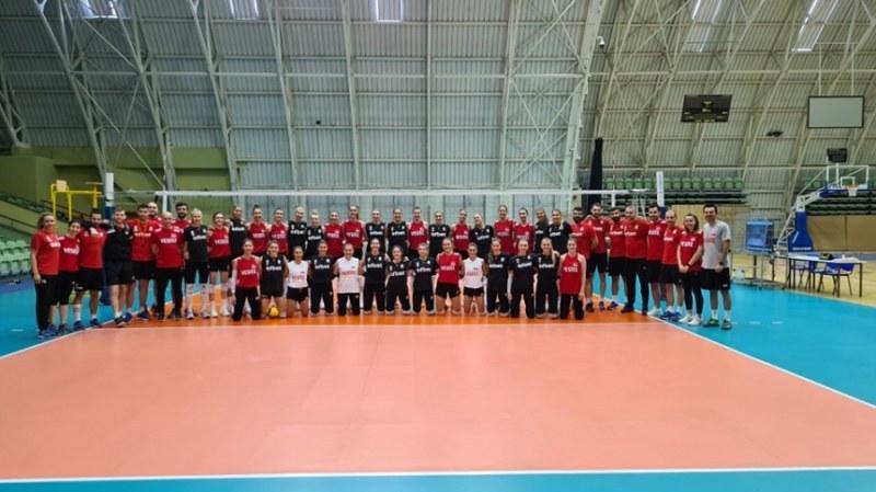 Женският национален отбор на България с категорична победа над Турция в Пловдив