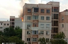 Пожар в Тракия, запали се апартамент