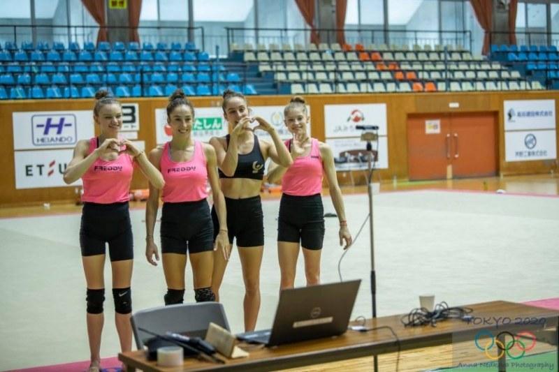 Гимнастичките ни показаха онлайн тренировка на феновете си в Япония