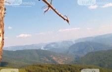 Ново огнище се разгоря край Югово, над Родопите се стели дим, гледката е страшна, коментират местни