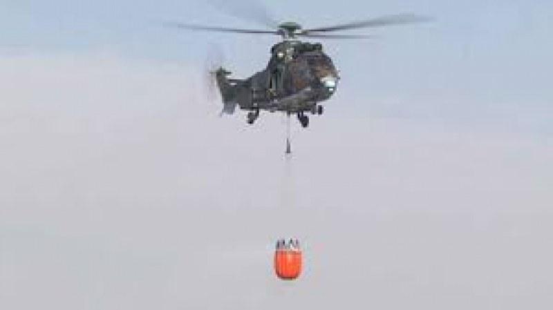 Вертолет от базата в Крумово излетя да гаси пожар в Рила