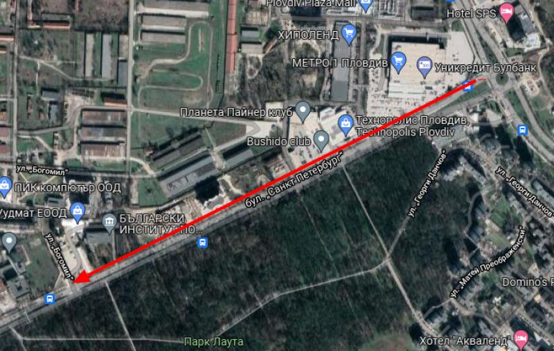 Започва реконструкция на булевард в Пловдив, ограничават движението за месеци