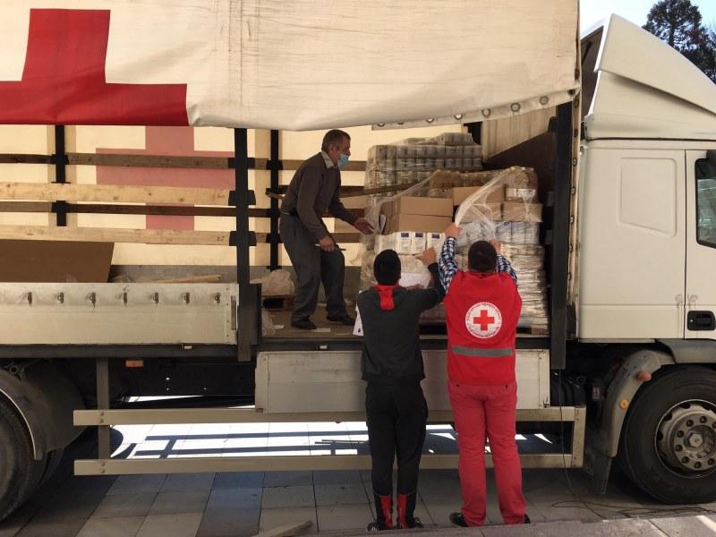 БЧК започва раздаване на хранителни продукти в Съединение